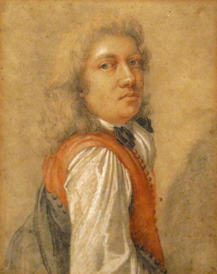 Charles Antoine Coypel French, 1694-1752 A Gentleman Wearing a Red Vest