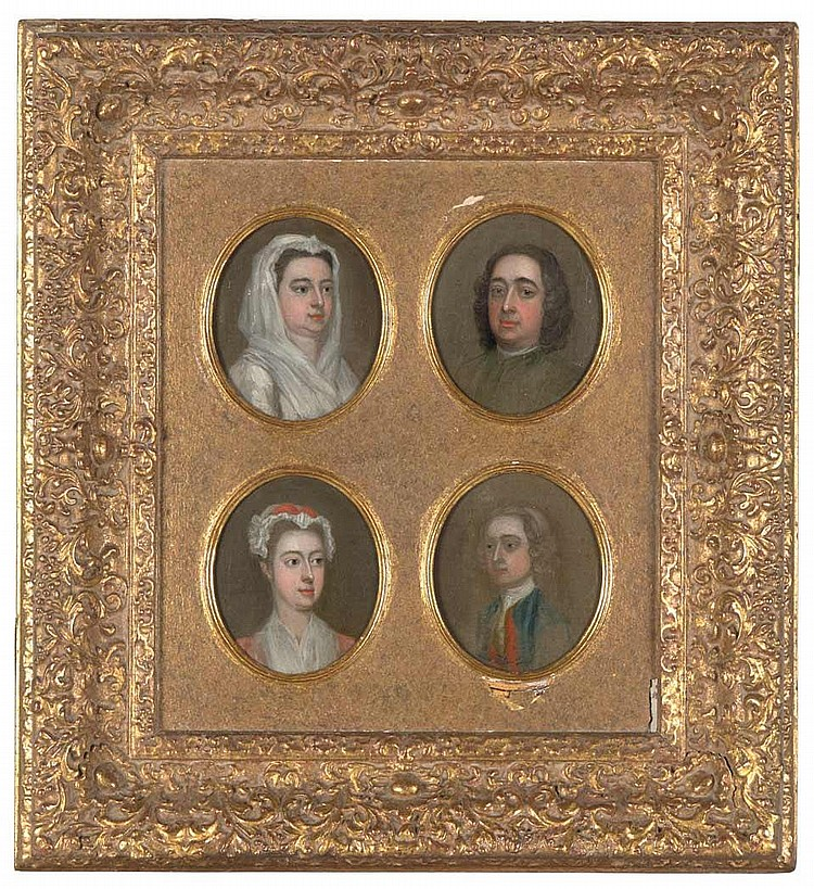 Circle of William Hogarth Family Portraits: Four