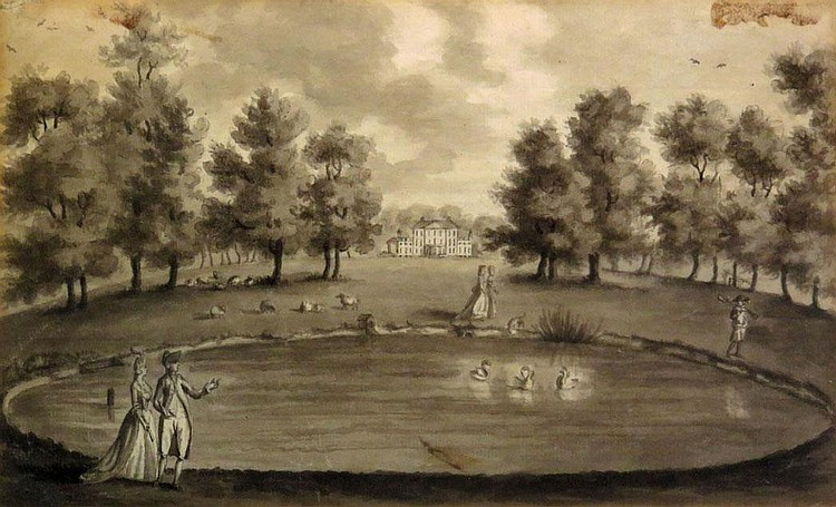 British School, 18th Century Figures Strolling Around a Lake: Together with French School, 18th Century, The Belvedere