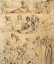 Thomas Stothard English, 1755-1834 Studies of Hector, Andromache and Other Figures