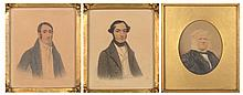 English School 19th Century Portraits of Gentlemen: Two; Together with a Portrait of a Man