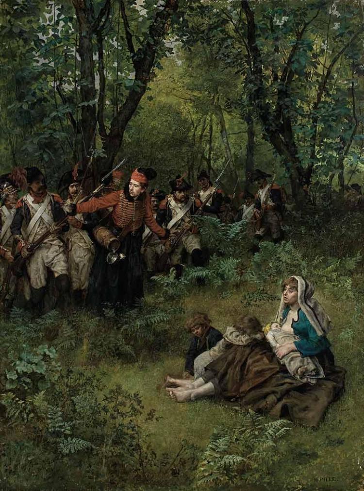Charles Henri Pille French, 1844-1897 Le Bois de la Saudraie, circa 1880