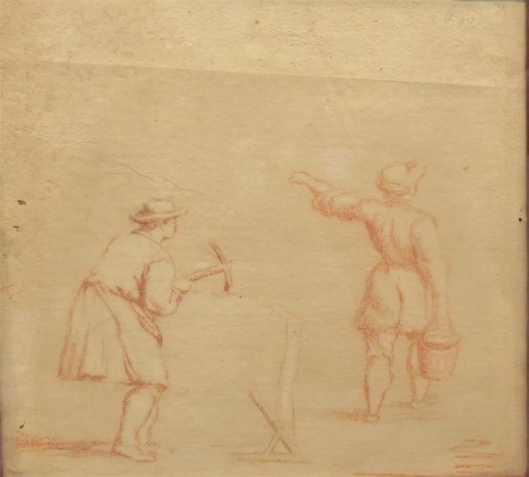 European School 17th Century Woodcutters