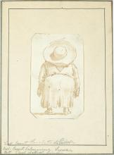 Giovanni Battista Tiepolo Italian, 1696-1770 Caricature of a Man Seen from Behind, Wearing a Large Hat