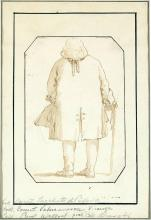 Giovanni Battista Tiepolo Italian, 1696-1770 Caricature of a Man Seen from Behind, Leaning on a Cane