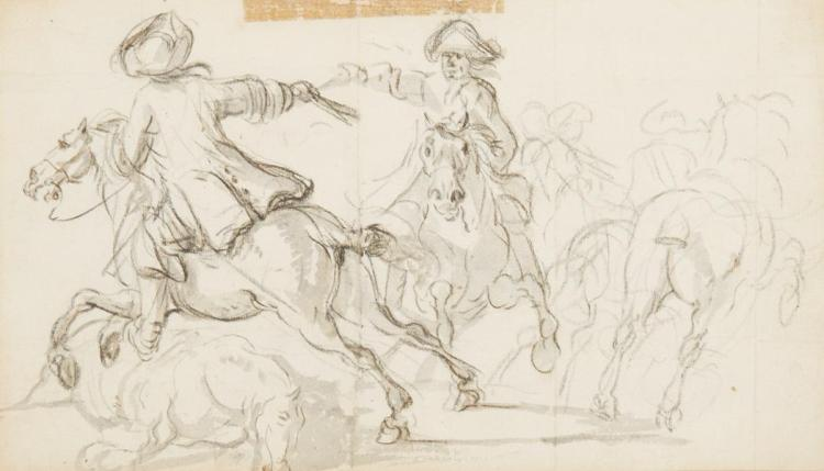 Attributed to Joseph Parrocel Cavalry Skirmish