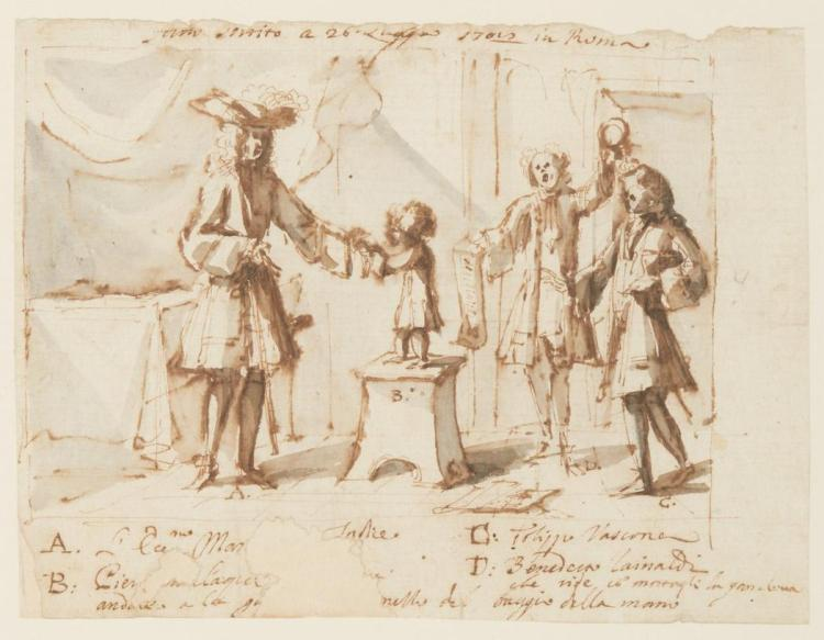 Attributed to Hubert François Bourguignon, called Gravelot A Nobleman Accepting the Homage of a Child