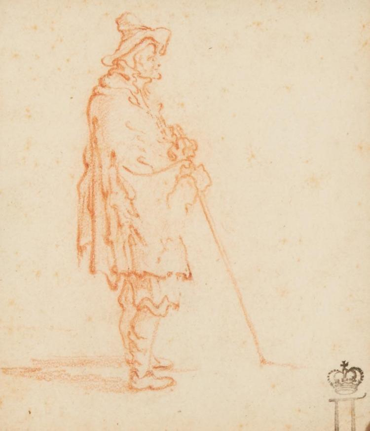 Attributed to Jacques Callot Figure Study