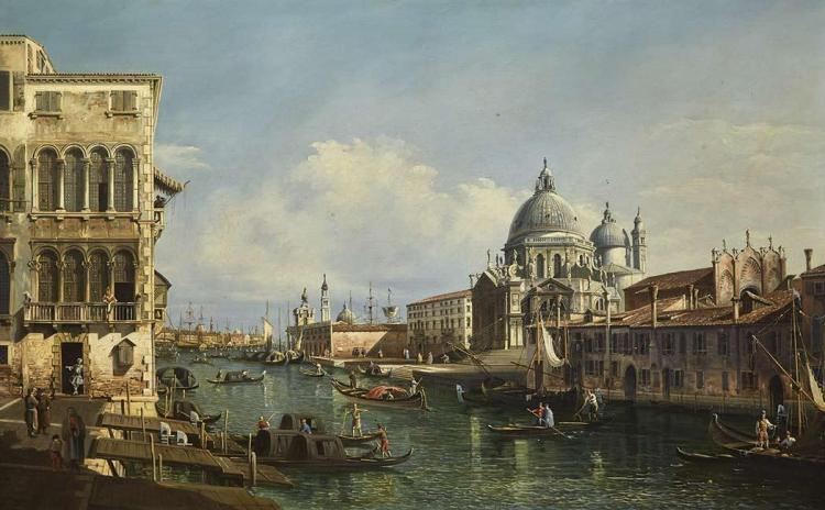 Follower of Bernardo Bellotto The Grand Canal, Venice, Looking Toward Santa Maria della Salute