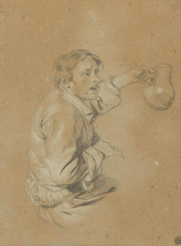 Cornelius Bega Dutch, 1631/32-1664 Man Lifting a Jug