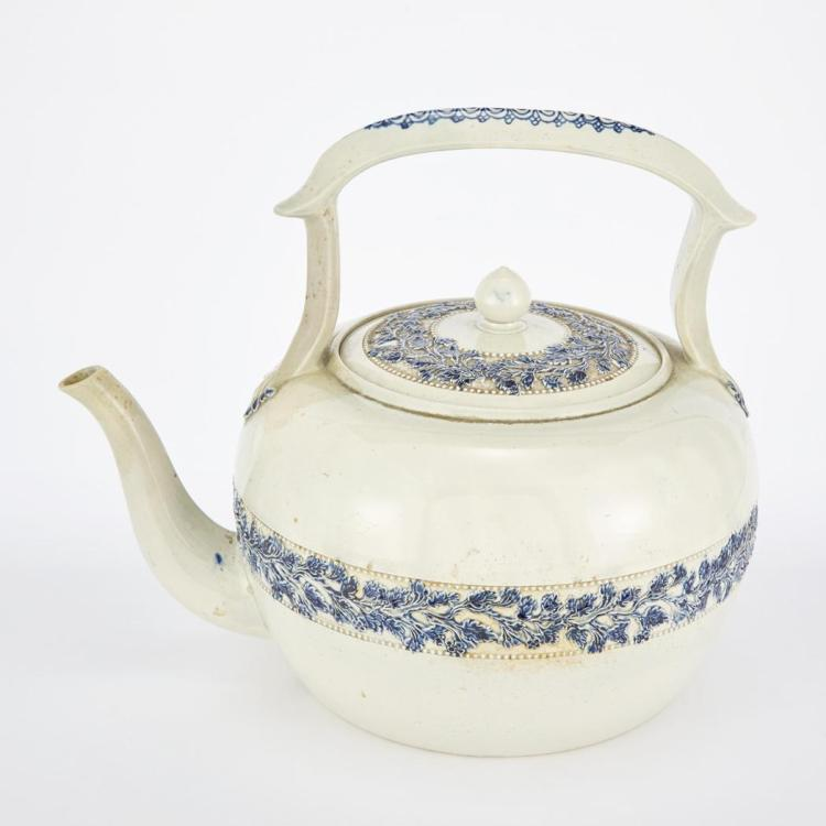 English Pearlware Kettle and Cover