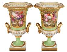 Pair of Chamberlain''s Worcester Porcelain Vases