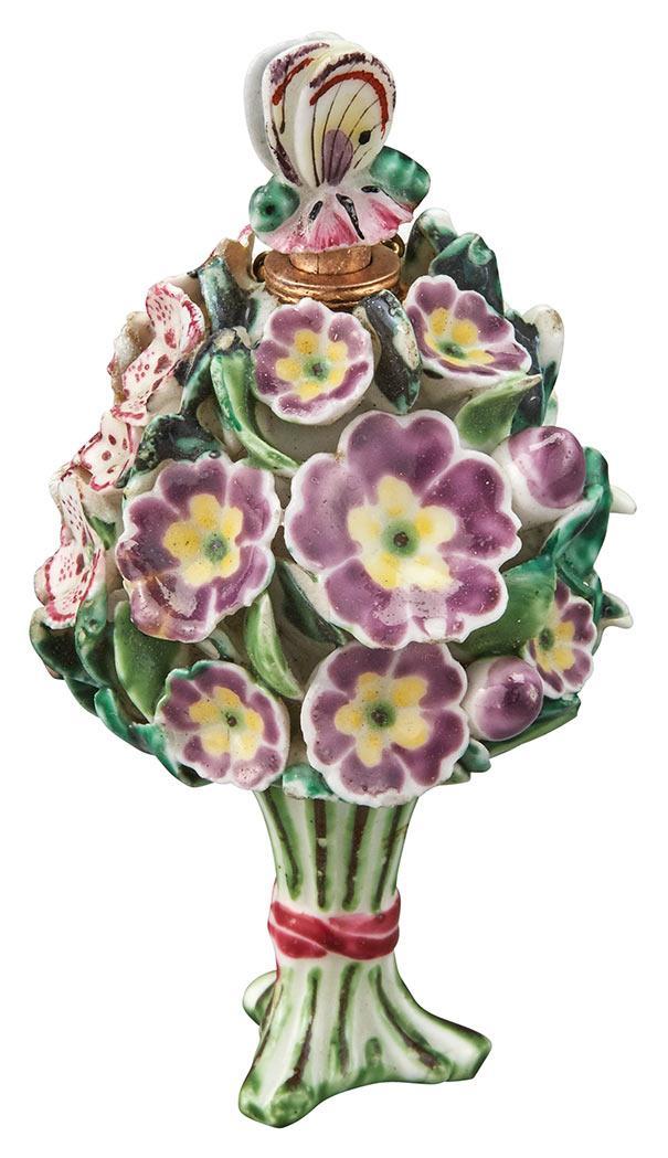 Chelsea Flower Bouquet Porcelain Scent Bottle and Stopper
