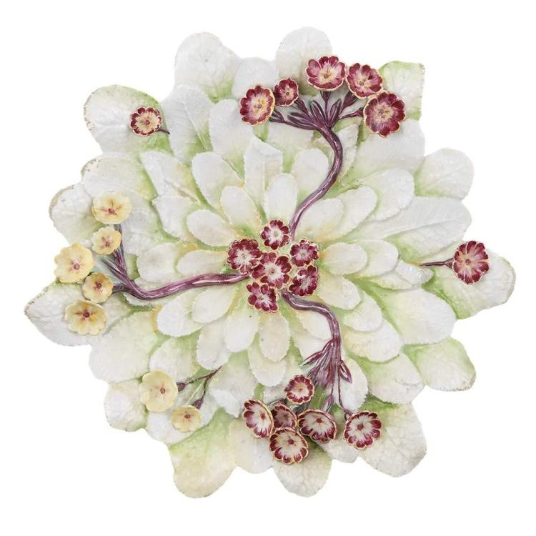 Chelsea Molded Porcelain Polyanthus Tureen Stand