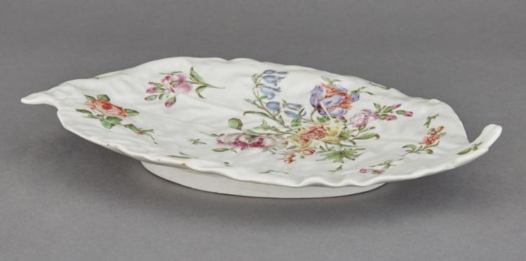 Chelsea Porcelain Molded Leaf Dish