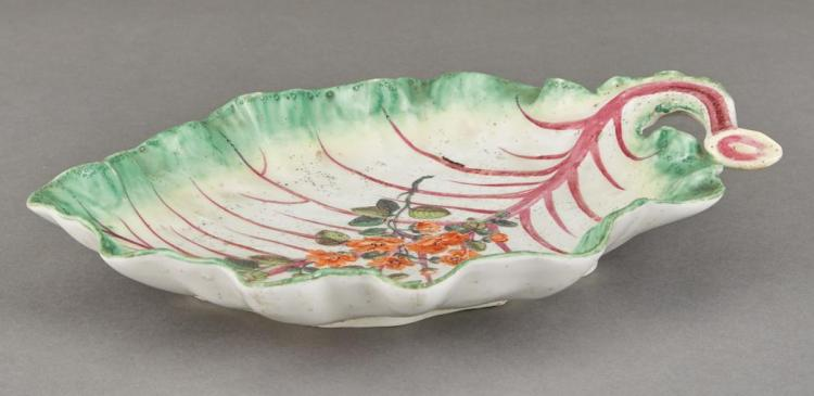 Chelsea Porcelain Leaf-Form Dish
