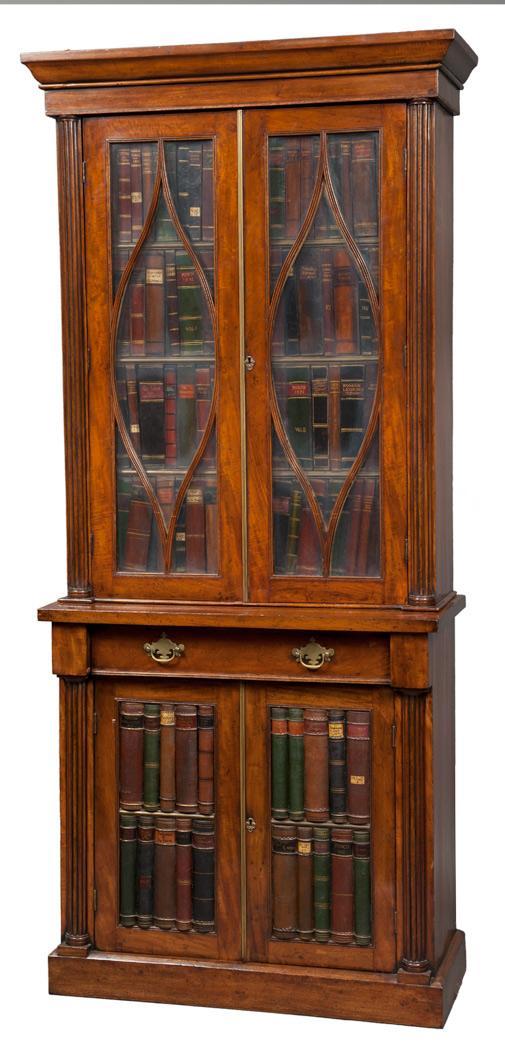 George IV Mahogany Bookcase Cabinet