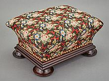 Two Victorian Needlework Upholstered Footstools