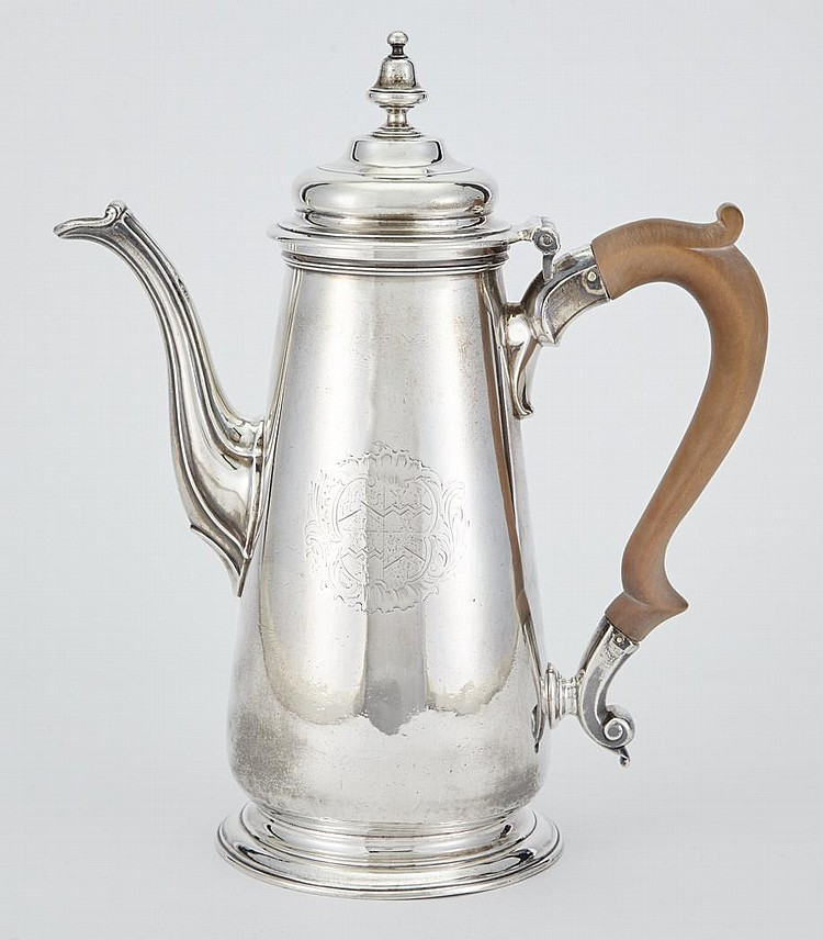 George II Sterling Silver Coffee Pot