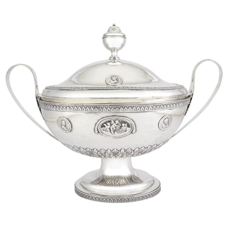 Continental Silver Covered Soup Tureen