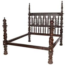 Portuguese Rosewood Double Bedstead