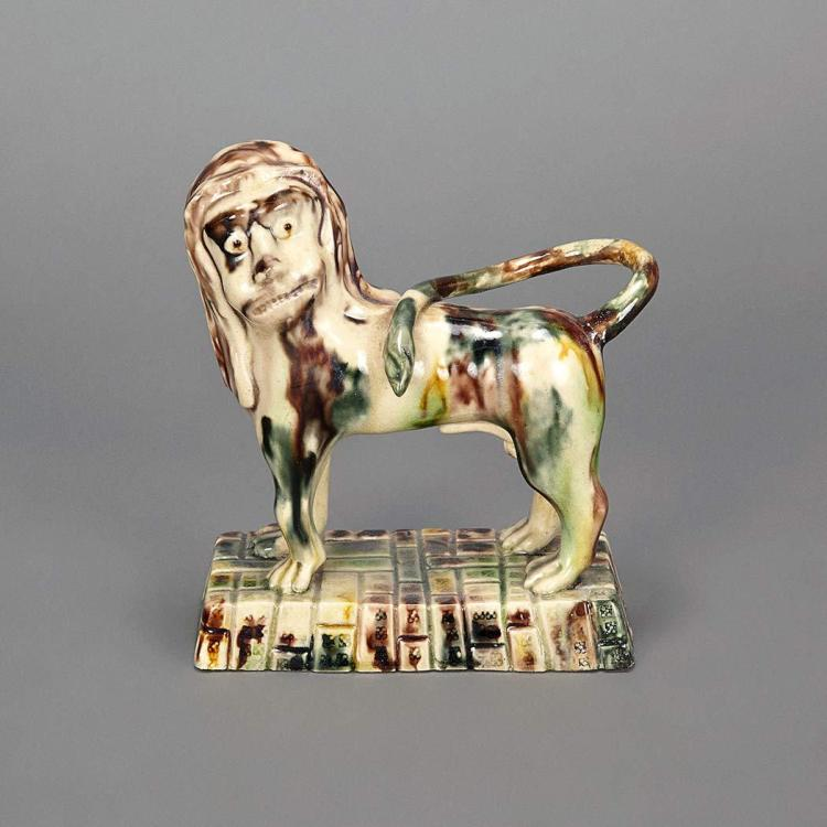 English Creamware Figure of a Lion