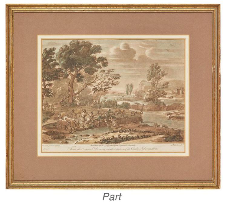 After Claude le Lorrain [LANDSCAPES] Nine mezzotints; Together with mezzotint portrait of Lorrain (10)