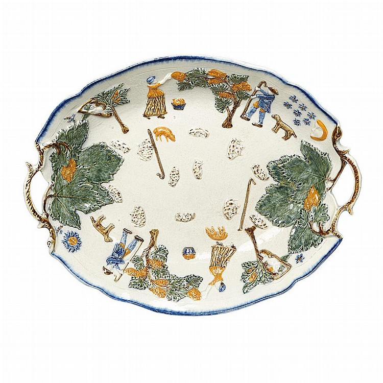 English Pearlware Tray
