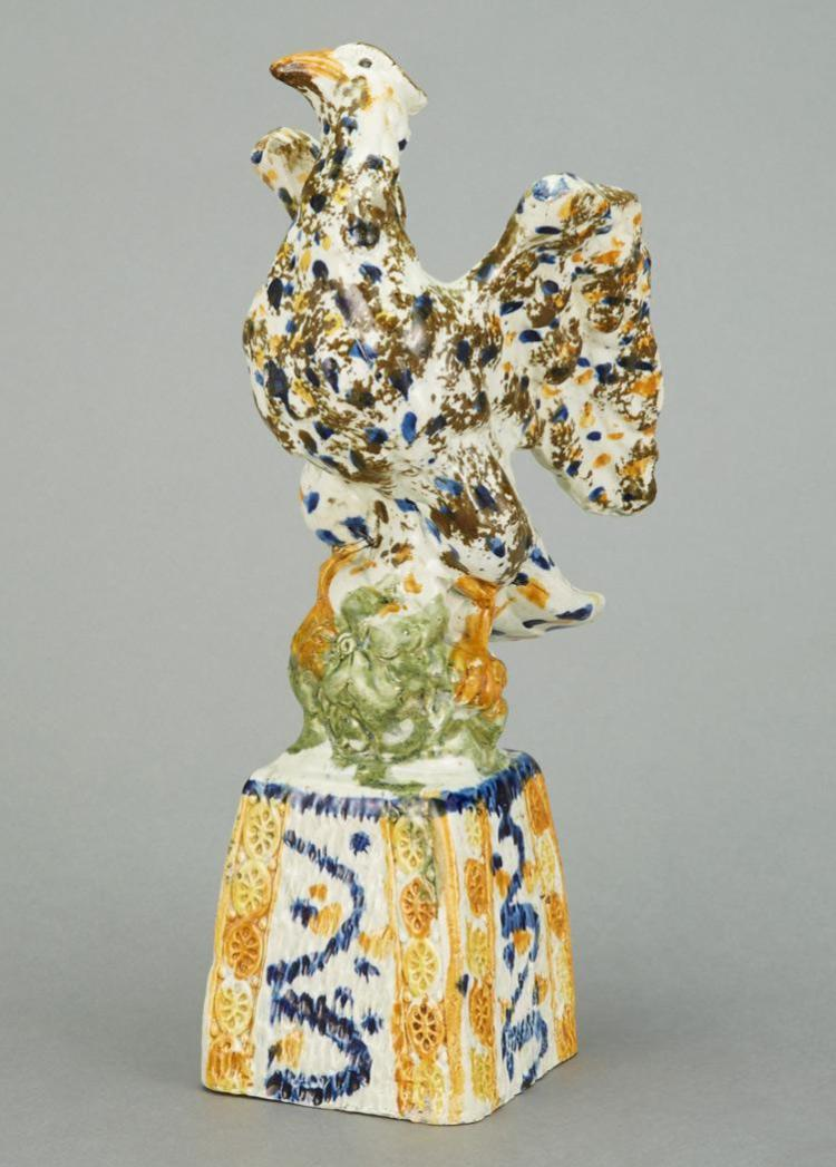 English Pearlware Figure of an Eagle