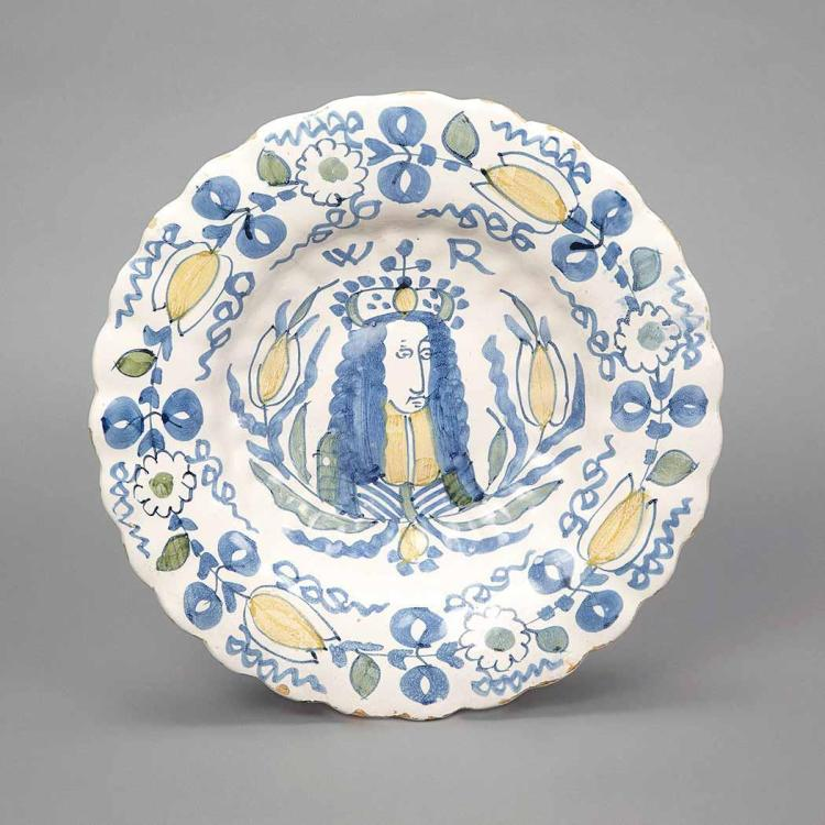 Dutch Delftware Charger Depicting William III
