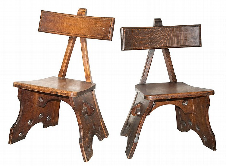 Assembled Pair of Oak ''Granville'' Chairs
