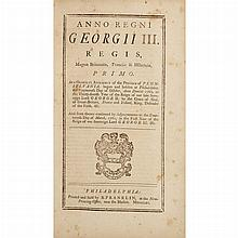 [FRANKLIN, BENJAMIN] Anno Regni Georgii II. Regis, Magnae Britanniae, Franciae & Hiberniae, Tricesimo Tertio ... Anno Regni Georgii ...
