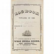 [SHIP LOG] Log book of the Schooner Annie Amsden from Portland Toward Cuba [from title], vessel log for 1875-1878.