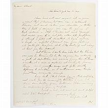 [SEMINOLE WARS] SCOTT, WINFIELD. Autograph letter signed. Astor House, New York: 13 November 1840. 1 1/4 page letter with in...