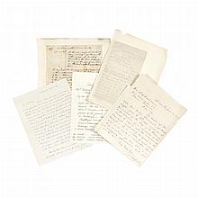 [POLITICAL AUTOGRAPHS] Group of four autograph letters signed. Comprising WEBSTER, DANIEL. Autograph letter signed to Mrs. R...