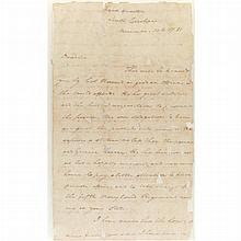 GREENE, NATHANAEL Autograph letter signed. Headquarters, South Carolina: 14 November 1781. 3 pp. autograph letter signed