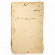 [NATIVE AMERICAN & AMERICAN REVOLUTION] LACEY, Jr., JOHN. Manuscript describing Lacey's 1773 expedition to the Delaware Indians...