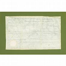MONROE, JAMES Document Signed. Washington: 7 13 November 1822. Partially printed vellum document accomplished in manuscript...