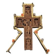 Silver-Gilt and Carved Wood Pectoral Cross