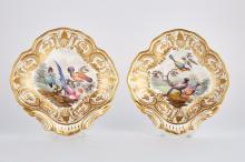 Pair of Derby Porcelain Dessert Dishes