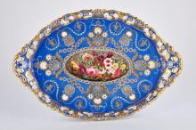 Chamberlain Worcester Reticulated Porcelain Platter