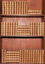 [BINDINGS] SCOTT, SIR WALTER The Waverly Novels. Philadelphia: Lippincott, 1865. 48 volumes. Half brown morocco gilt over...
