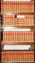 [FINE BINDINGS] Large run of approximately sixty-seven well-bound classics. Mostly Boston: Little, Brown, late 19th century....