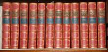 [FINE BINDINGS] DOYLE, RICHARD CONAN. Works. London: Smith, Elder, 1903. 12 volumes. Three-quarters red morocco gilt by Fros...