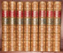 [FINE BINDINGS] GIBBON, EDWARD. The History of the Decline and Fall of the Roman Empire. London: Murray, 1862. 8 volumes. Ea...