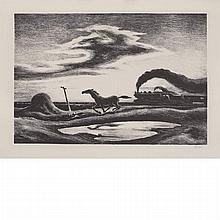 Thomas Hart Benton (1889-1975) THE RACE Lithograph