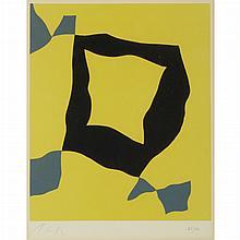 Hans Arp (1887-1966) COMPOSITION Color woodcut