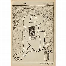 Milton Avery MARCH AT A TABLE Drypoint