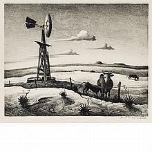 Thomas Hart Benton WEST TEXAS Lithograph
