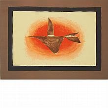 Georges Braque AU COUCHANT (OISEAU XVI) Color lithograph